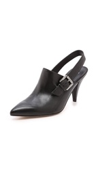 Belle By Sigerson Morrison Betania Pointy Slingback Pumps Black