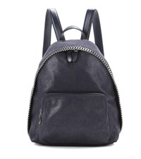 Stella Mccartney Falabella Shaggy Deer Small Backpack Blue
