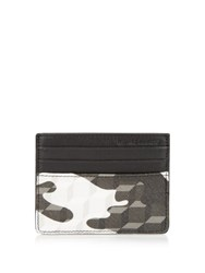 Pierre Hardy Cube And Camouflage Print Cardholder Black White