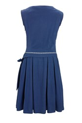 Lowie Cobalt Blue Cotton Drop Waist Prom Dress
