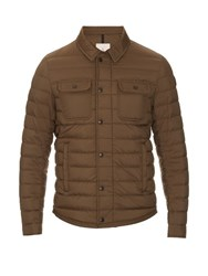 Moncler Andy Quilted Down Nylon Jacket Khaki