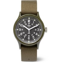 Timex Archive Camper Mk1 Resin And Grosgrain Watch Army Green