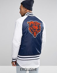 Majestic Chicago Bears Souvenir Jacket Exclusive To Asos Navy