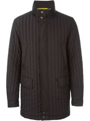 Canali Padded Coat Black