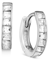 Eliot Danori Earrings Crystal Accent Hoop