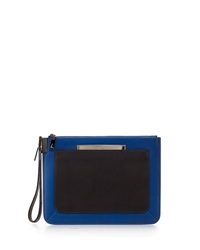 Time's Arrow Ishi Small Leather Wristlet Paris Blue