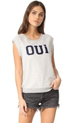 Sundry Oui Tank Pullover Heather Grey