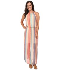Stetson Aztec Stripe Chiffon Sleeveless Maxi Dress Red Women's Dress