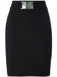 Versace Jeans Belted Skirt Black