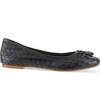 Carvela Luggage Woven Ballet Flats Black