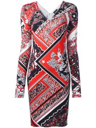 Just Cavalli Paisley Patterned Dress Red