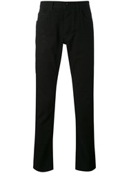 Dolce And Gabbana Regulaer Fit Trousers Men Cotton Calf Leather 46 Black