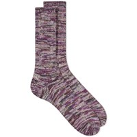 Anonymous Ism 5 Colour Mix Crew Sock Purple