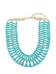 Baublebar Riviera Beaded Collar Necklace Turquoise