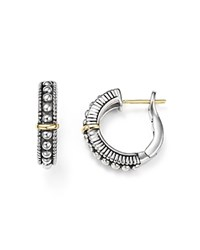 Judith Ripka 18K Yellow Gold And Sterling Silver Berge Hoop Earrings White Silver