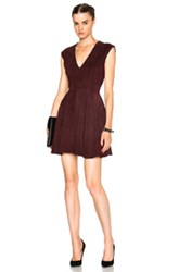 Theperfext Rosie Suede Shift Dress In Red