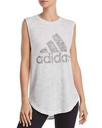 Adidas Winners Muscle Tank White Mgh Solid Gray