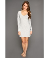 Splendid Essential Long Sleeve Chemise Heather Grey Women's Pajama Gray