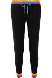 Chinti And Parker Cashmere Track Pants Black