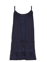 Melissa Odabash Karen Lace Trimmed Beach Dress Navy