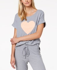 By Jennifer Moore Graphic Print Pajama Top Created For Macy's Heather Grey