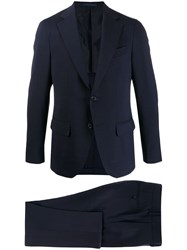 Caruso Two Piece Slim Fit Suit Blue