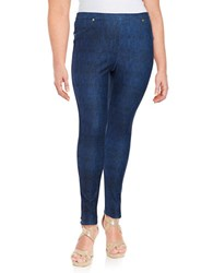 Michael Michael Kors Plus Straight Leg Jeggings Blue