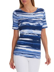 Betty Barclay Striped T Shirt Blue