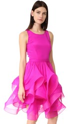 Reem Acra Sleeveless Dress Fuchsia