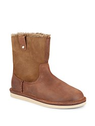 Ugg Sequoia Leather And Suede Boots Chocolate