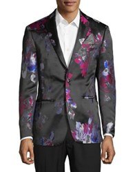 Tallia Orange Floral Sportcoat Black
