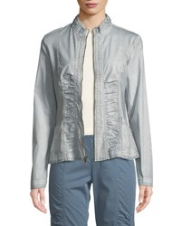 Xcvi Agnese Lace Up Jacket Gray