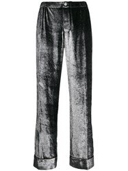 F.R.S For Restless Sleepers Wide Leg Shimmer Trousers Silver