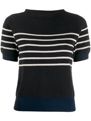 Bellerose Stripe Fine Knit Jumper Blue