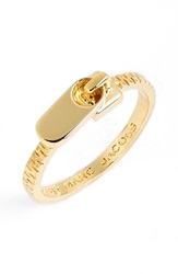 Marc By Marc Jacobs 'Zipper Pull' Ring Gold