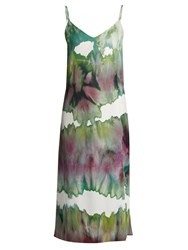 Acne Studios Sway Slip Dress Green Multi