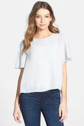 Frenchi Back Keyhole High Low Tee Juniors Gray