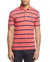 Brooks Brothers Stripe Slim Fit Polo Shirt Cranberry