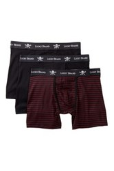 Lucky Brand Black Label Stretch Boxer 3 Pack Multi
