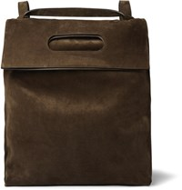 Tom Ford Convertible Suede Backpack Brown