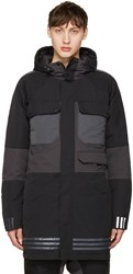 Adidas X White Mountaineering Black Down Hooded Jacket