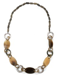 East Horn And Shell Link Necklace