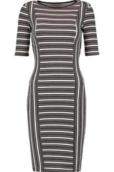 Bailey 44 Mansour Gate Ribbed Printed Jersey Dress Brown
