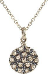 Fabrizio Riva Red Gold And Brown Diamond Round Charm Necklace Colorless
