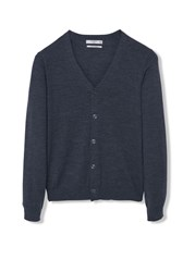 Mango Willy Buttoned Linen Cardigan Dark Grey