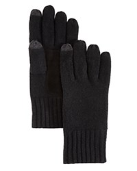 Bloomingdale's The Men's Store At Suede Patch Tech Gloves Black Black
