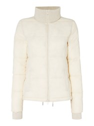 Oui Quilted Jacket Cream