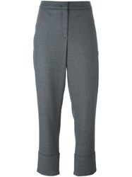 Odeeh Flannel Tailored Trousers Grey