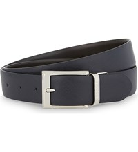 Canali Two Tone Reversible Leather Belt Navy Brown