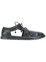 Marsell Cut Out Detail Derby Shoes Black